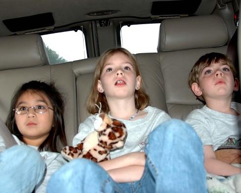 In the van, on the way!